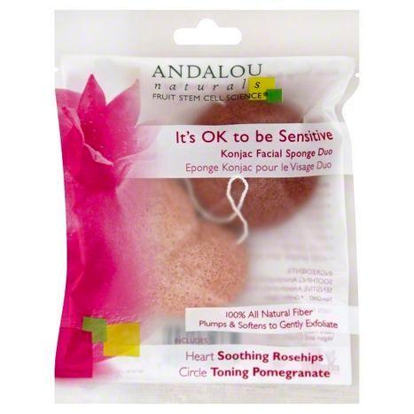 Buy Andalou Naturals Facial Sponge Duo Konja Online